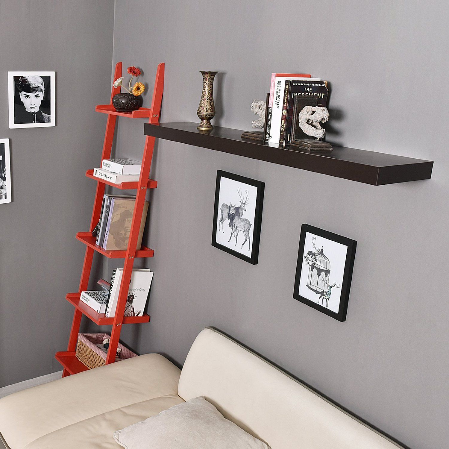 48 Inch Mission Floating Wall Shelf The Shelf Becomes One With The