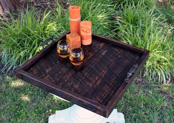 Terrific Large Ottoman Tray Large Serving Tray Reclaimed Wood Ncnpc Chair Design For Home Ncnpcorg