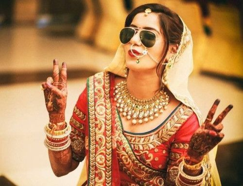 The Indian Bride With Her Swag
