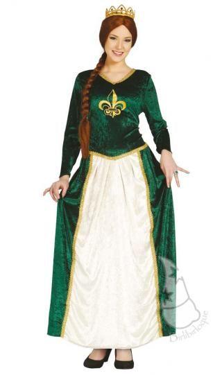 1eab22f14 Disfraz de Reina Fiona Medieval para mujeres | Disfraces Medievales ...
