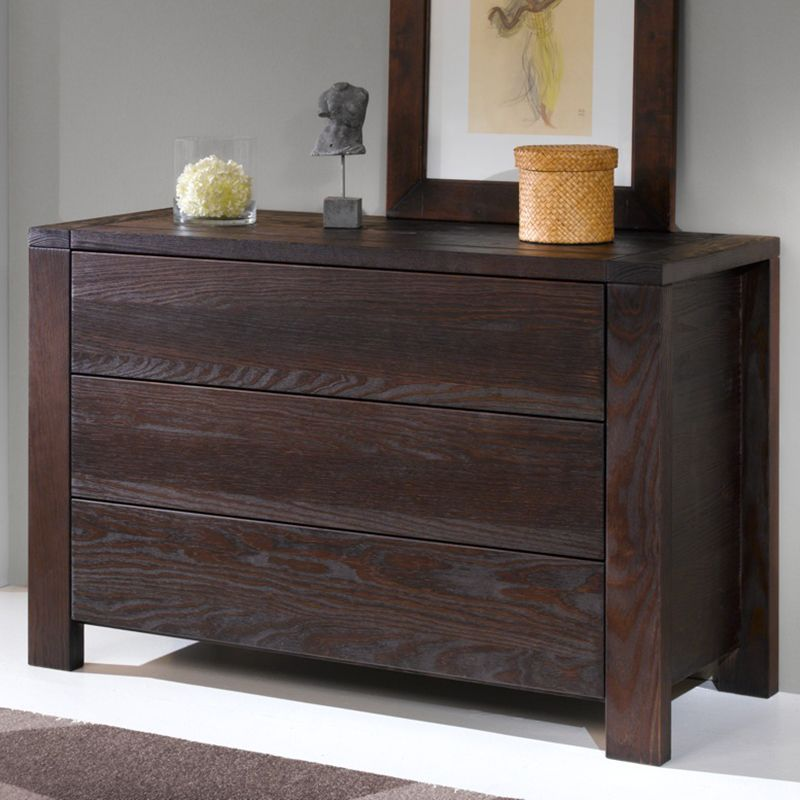 achetez fran ais avec cette commode en pin massif teinte weng meubles chambre adulte. Black Bedroom Furniture Sets. Home Design Ideas