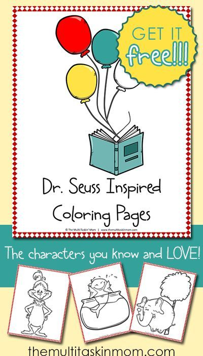 FREE Dr Seuss Inspired Color Pages