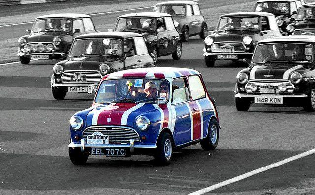 Mini Op10inch Velgen Met Union Jack Op Het Dak Mini