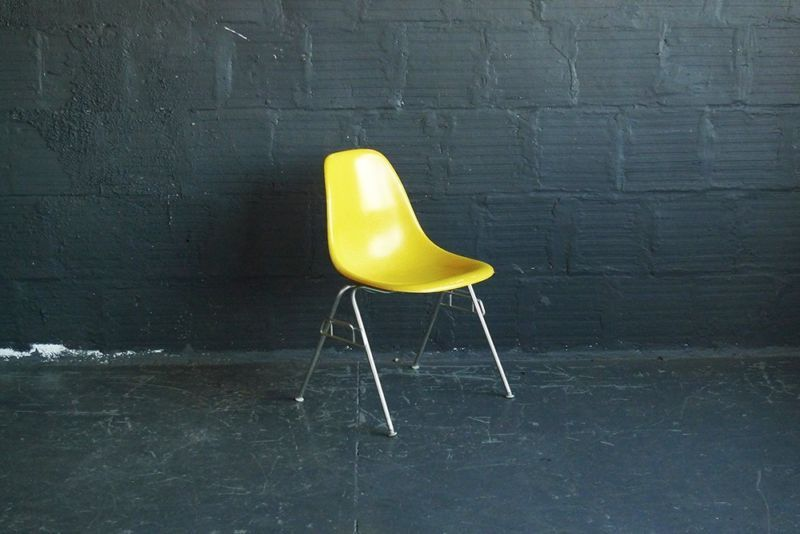 Charles and Ray Eames Herman Miller Fiberglass DSS Stacking Chair (SET of FOUR)