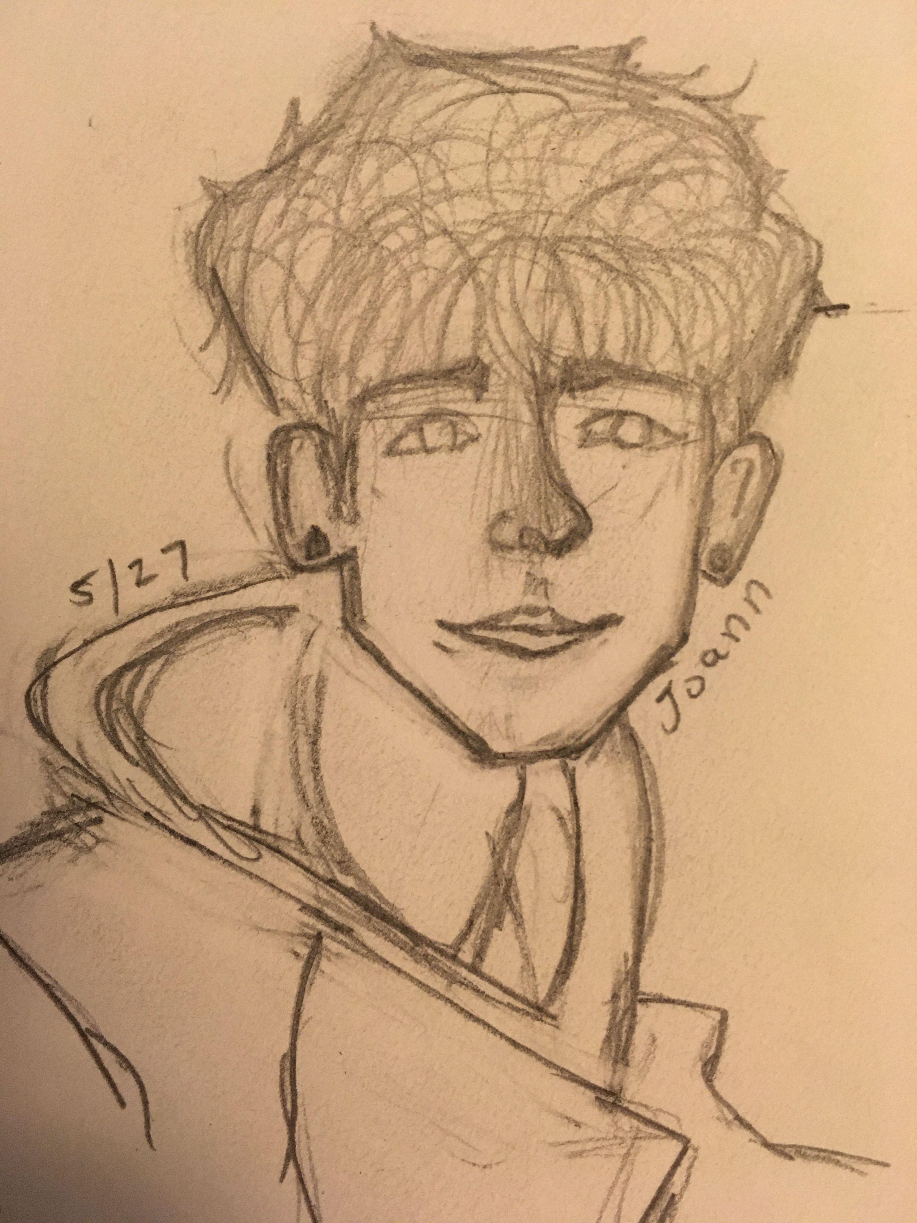 #cute #drawing #sketch #pencil #quick #boys #hoodie #pencilart