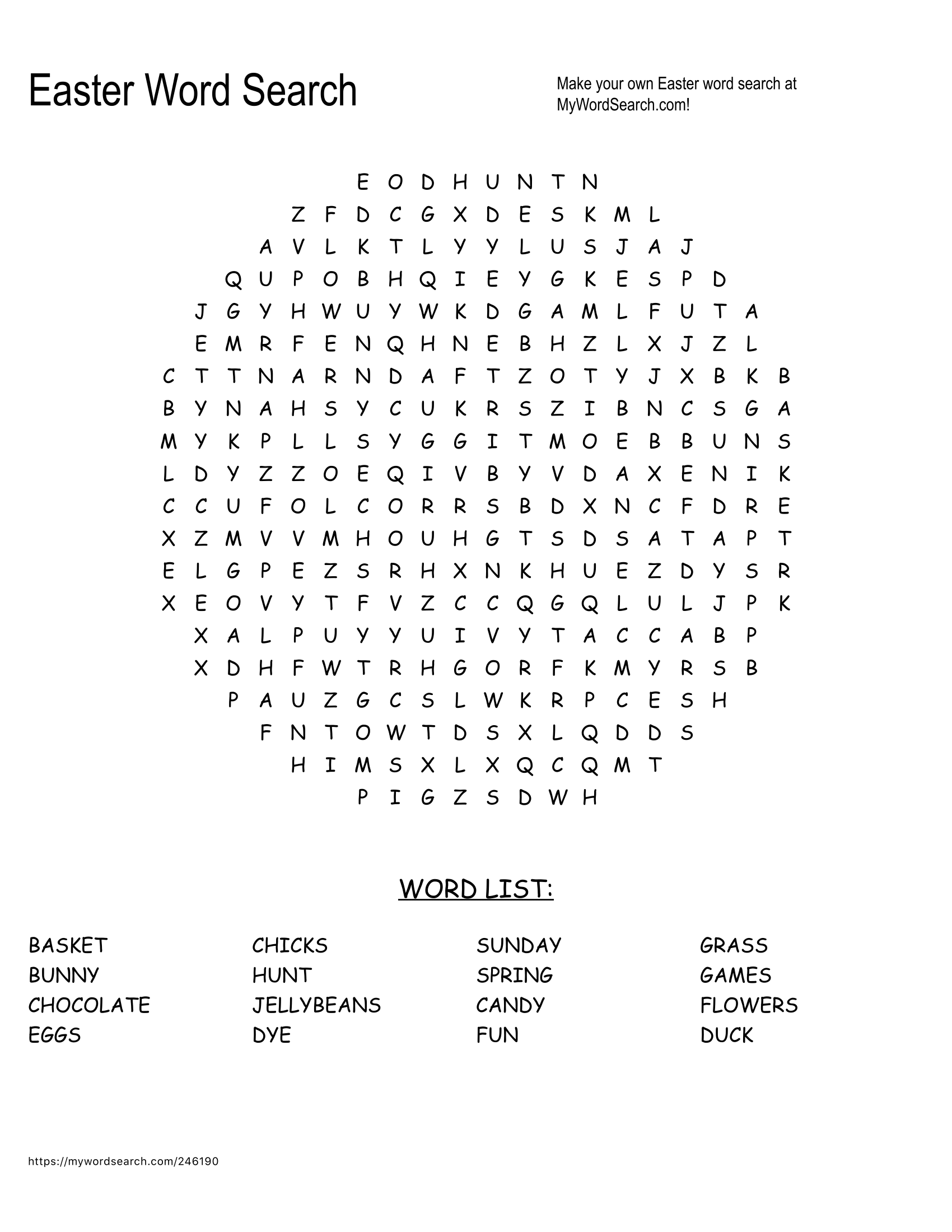 Easter Word Searches Make A Fun Addition To Your Easter