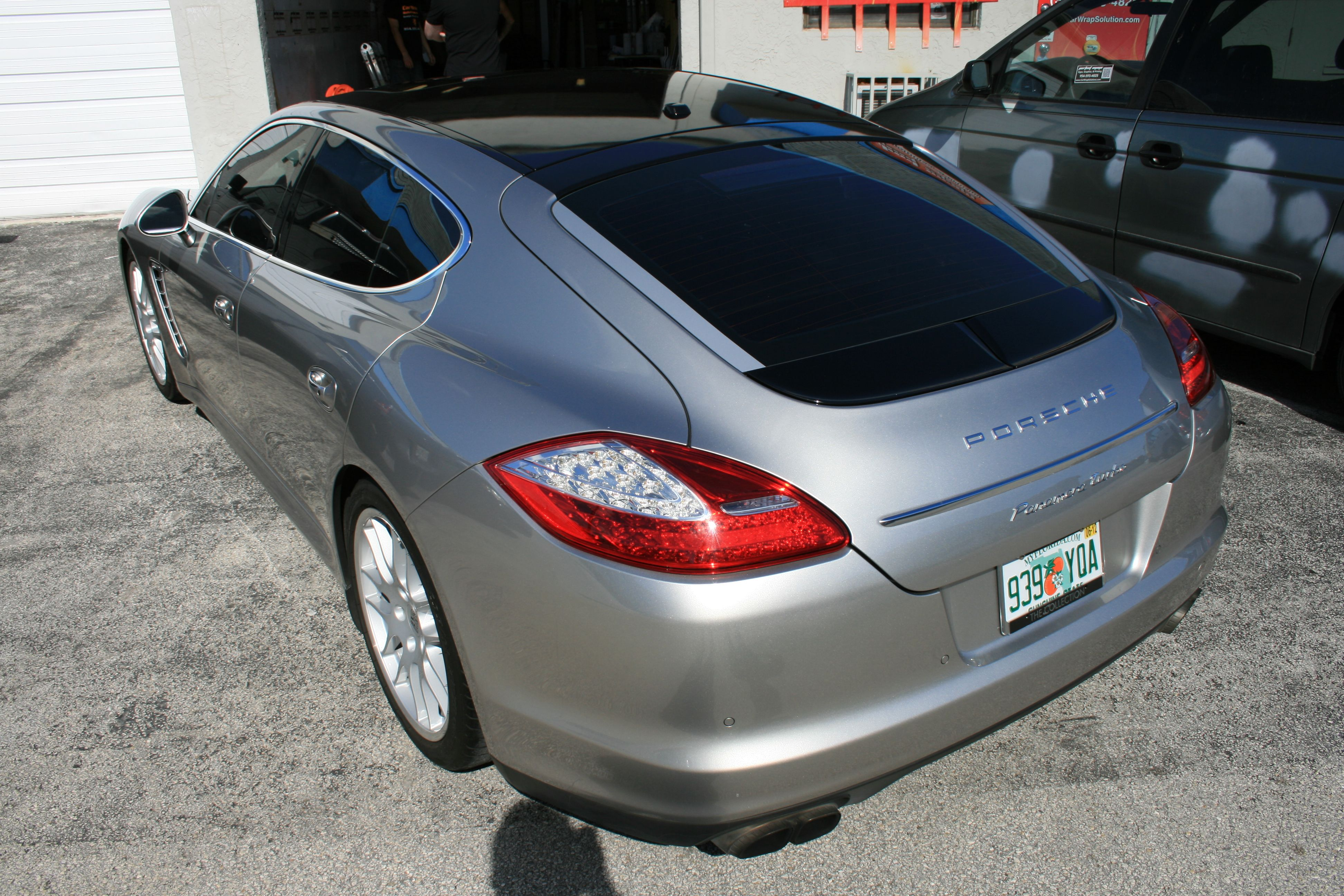 Porsche Panamera Panoramic 3M Scotchprint Vinyl Roof Wrap Miami Florida  Http://carwrapsolutions.