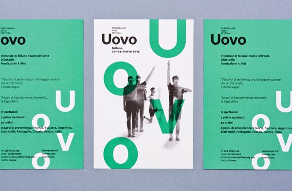 Uovo Performing Art Festival by Atto, via Behance