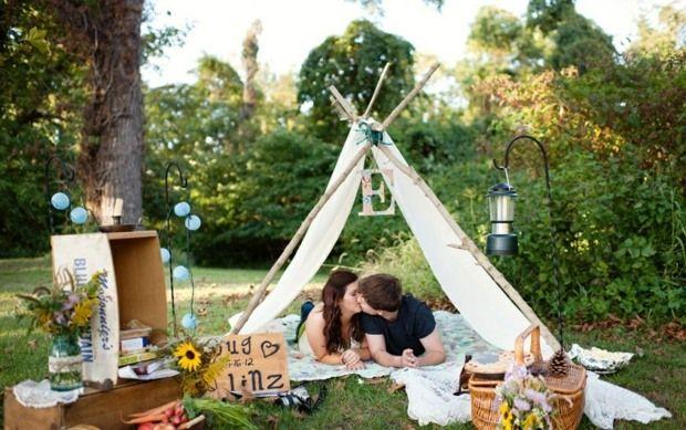 rustikales #gartenzelt im #garten für ein #picknick #diy, Gartengerate ideen