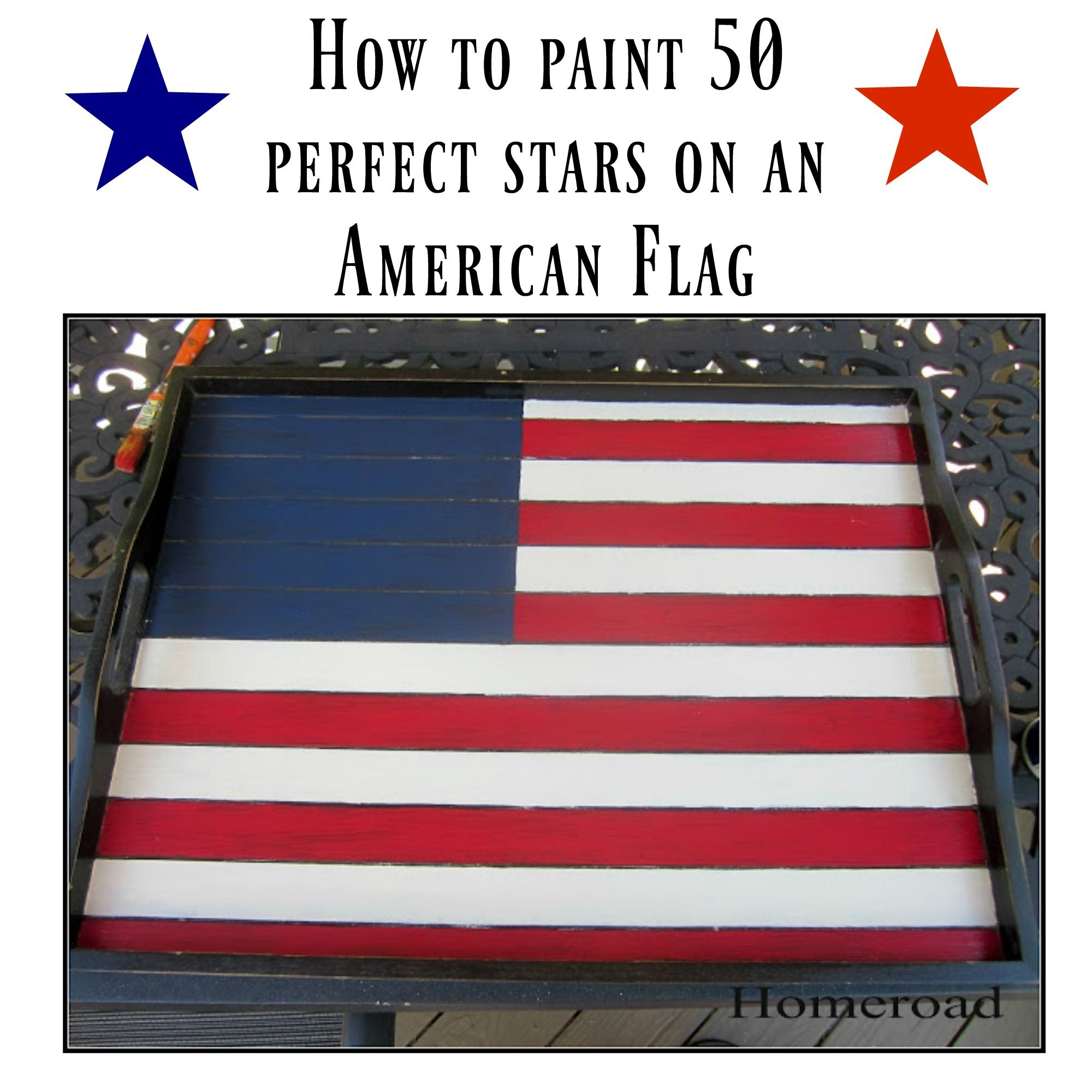 Creating An Imperfect Flag Tray Flag American Flag Projects