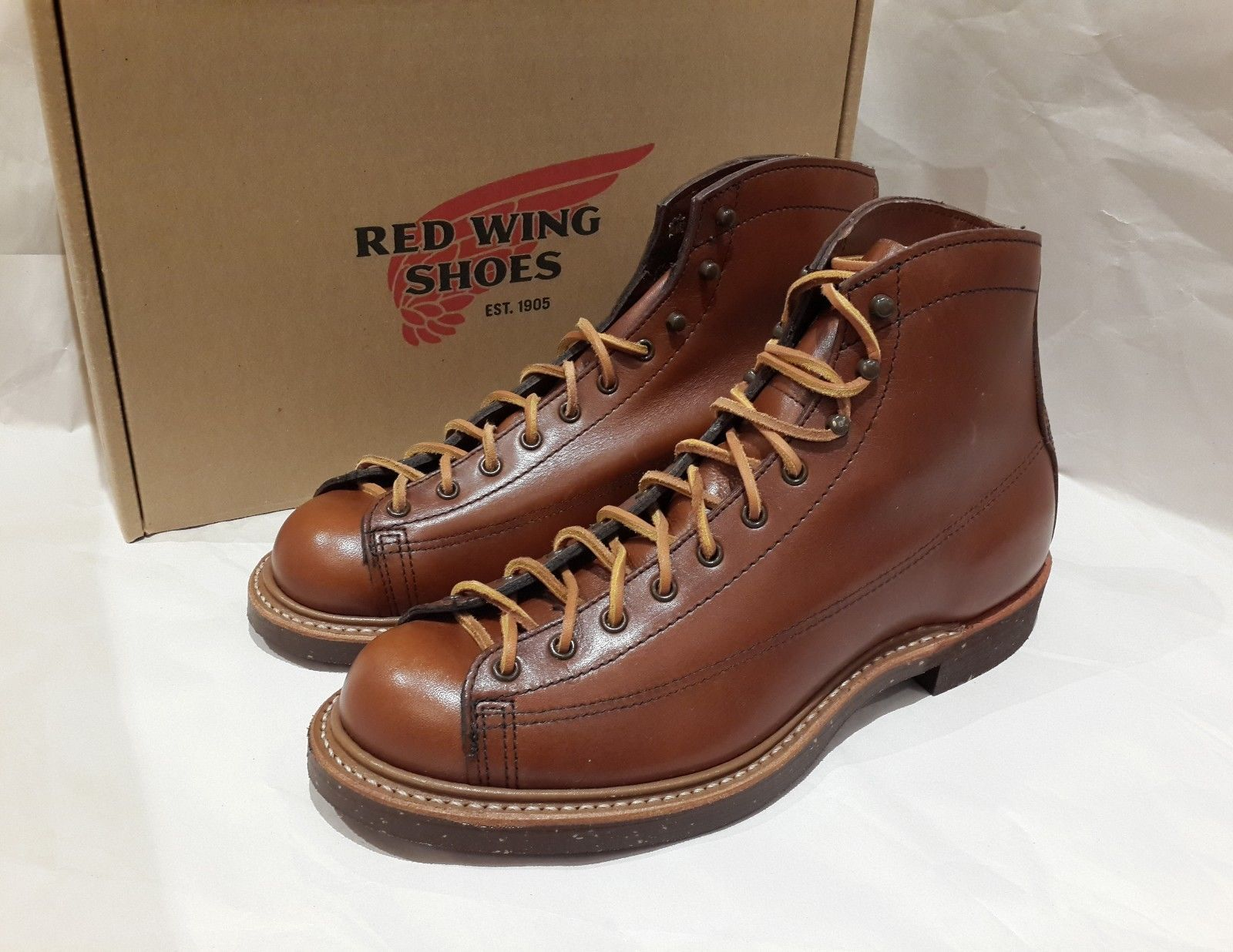 New in Box Red Wing Size 7.5D Heritage Lineman 2996 Leather Cigar Iron  Ranger
