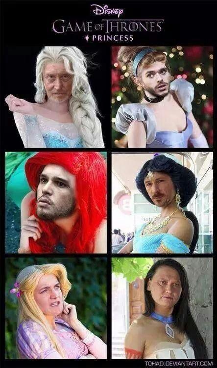 Game of Thrones Men as Disney Princesses