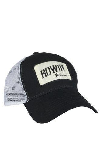8587a025f6476 Rowdy Gentleman Tan Bar Patch Mesh Hat - Black Sale Items
