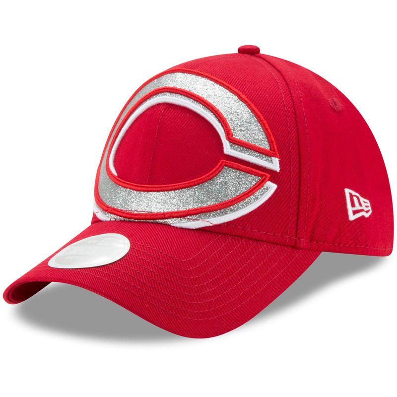best website 94e49 dc60c ... australia cincinnati reds new era womens glitter glam 3 9forty  adjustable hat red 4ef54 94adb