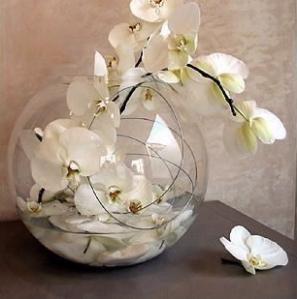 Centre de table orchidee d co de table centrotavola di - Decoration de vase pour mariage ...