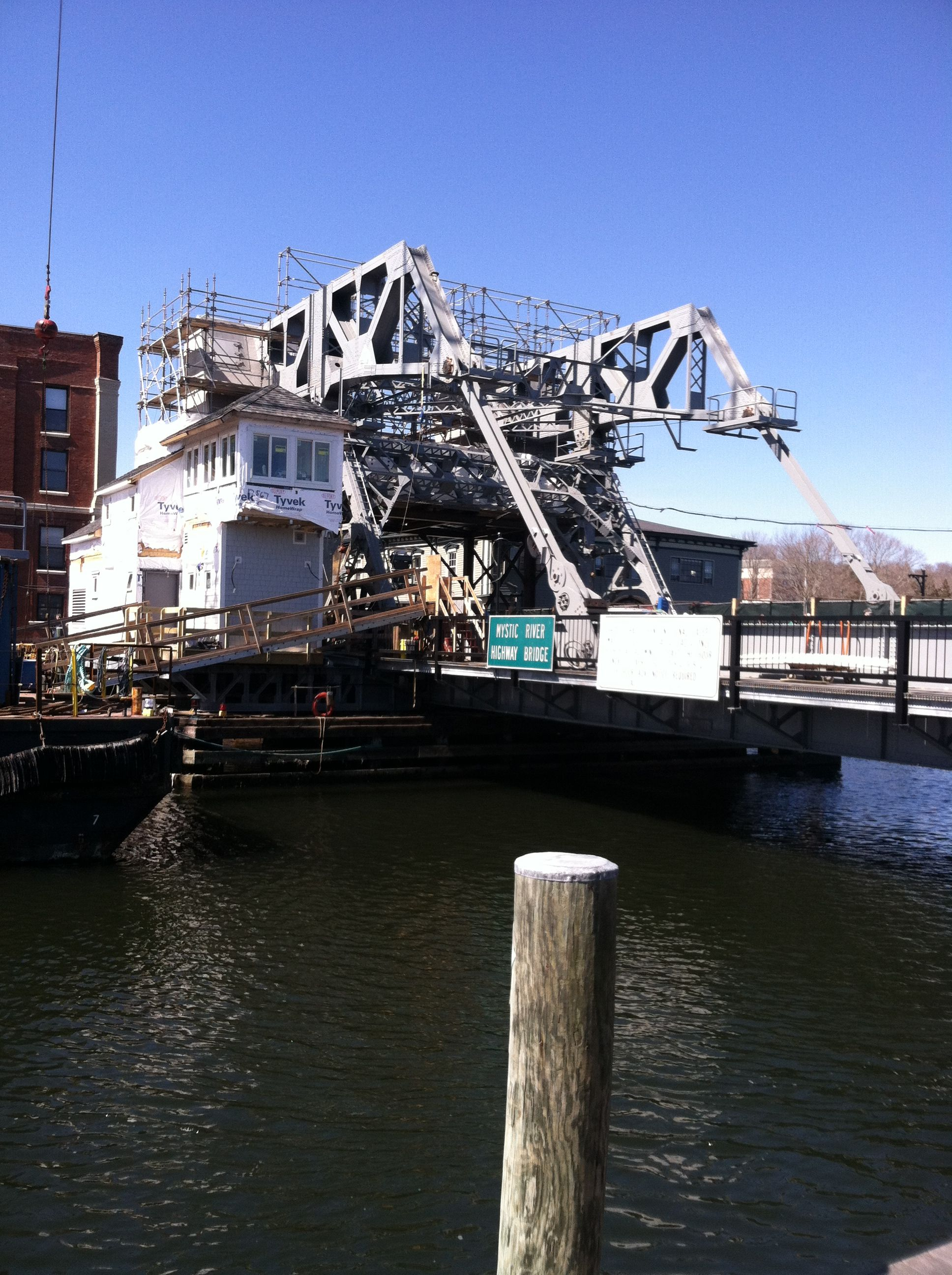 Mystic CT Bridge u can walk on it and go into the shopping town