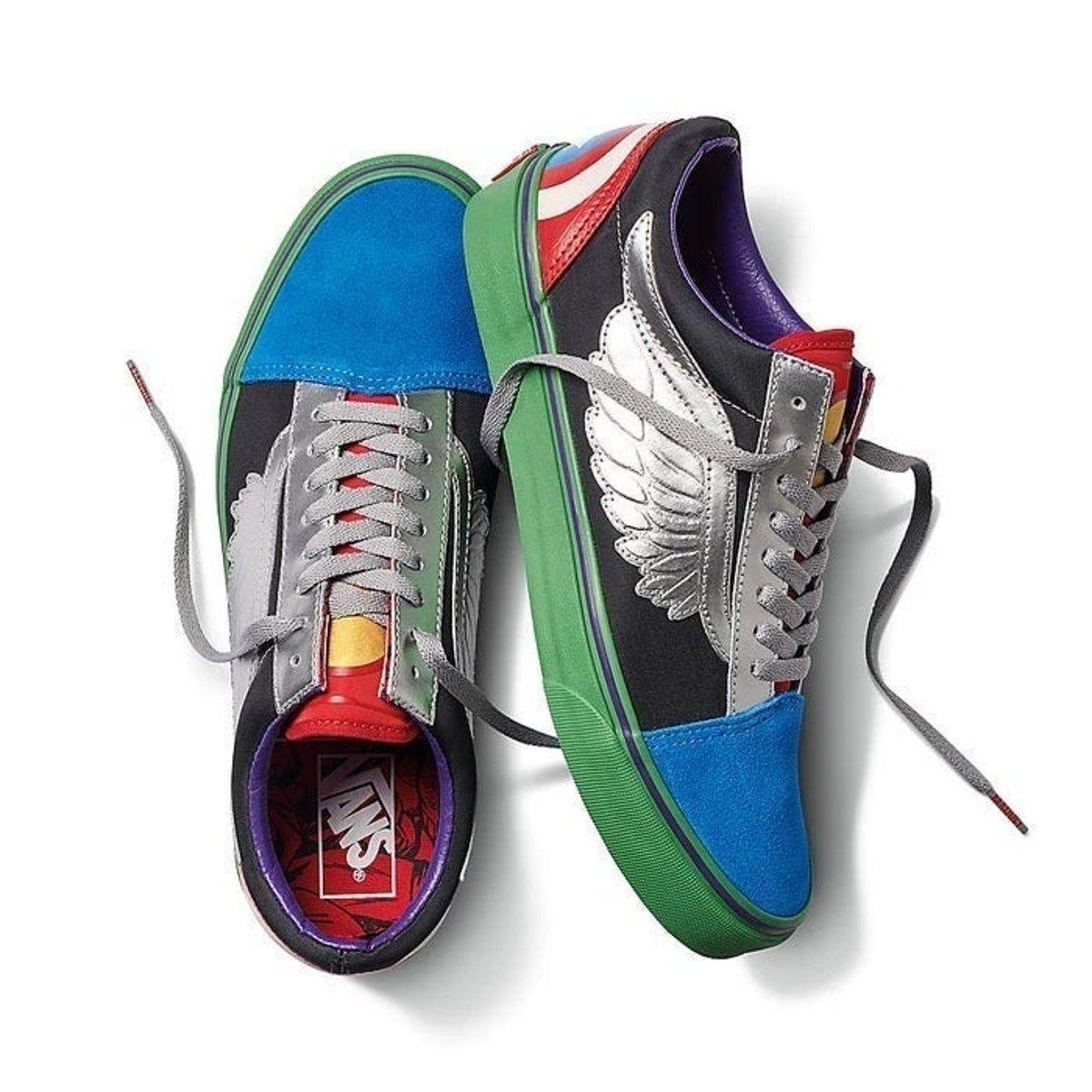 Vans Old Skool Marvel Avengers Shoes | Avengers shoes, Vans marvel ...