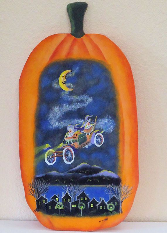 Decorative Tole Painting An Eerily Funny By Visualgemsstudio 55 00