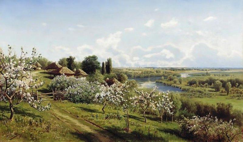 APPLE TREES IN COLOUR, BY NIKOLAY SERGEYEV