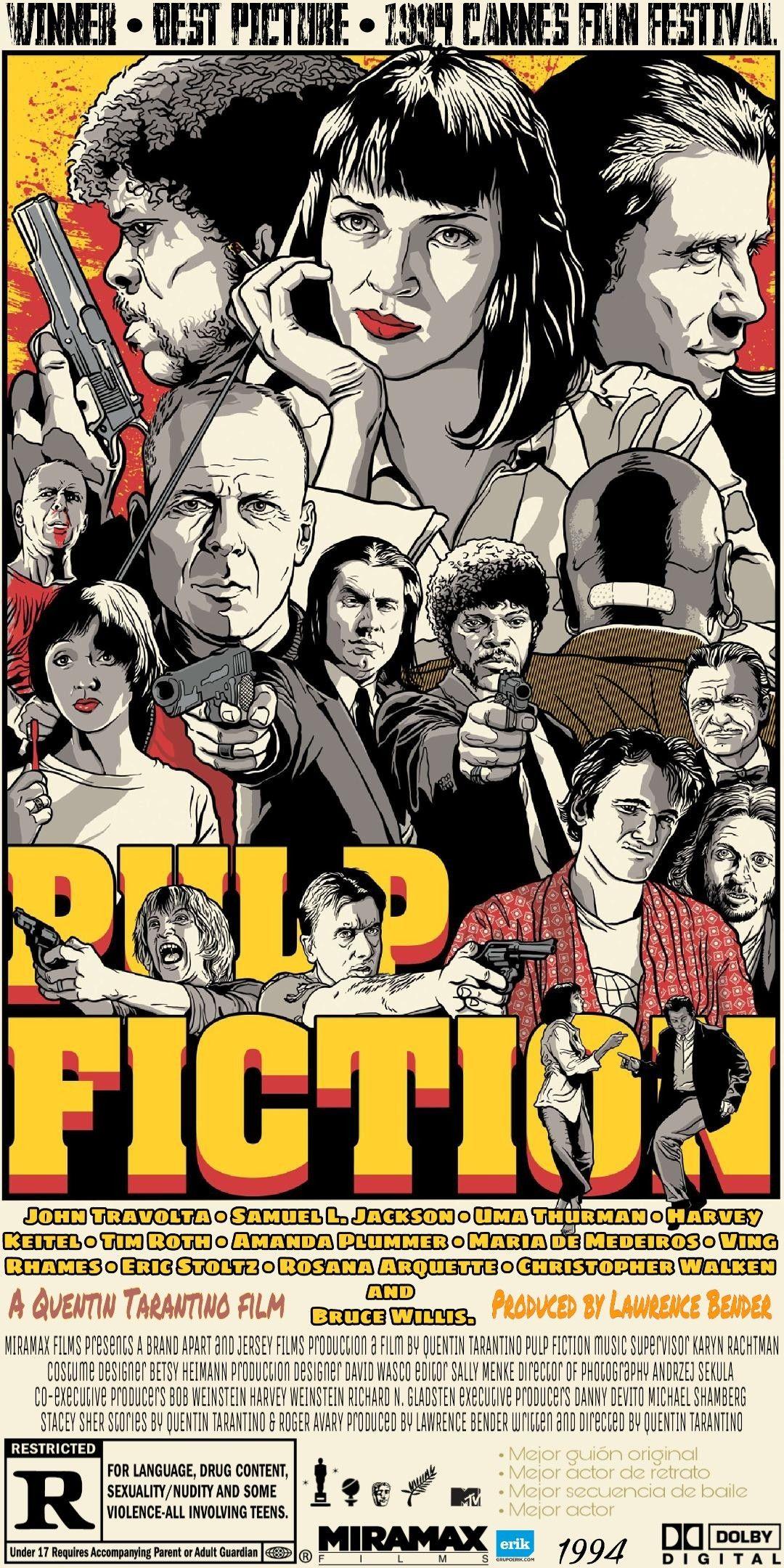 Wallpaper Pulp Fiction Quentin Tarantino Fondo De Pantalla Pulp Fiction Classic Movie Posters Film Posters Vintage