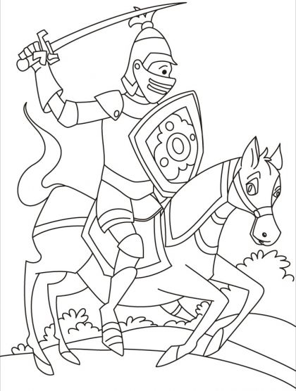 Knight Coloring Pages Horse Coloring Pages Coloring Pages Knight