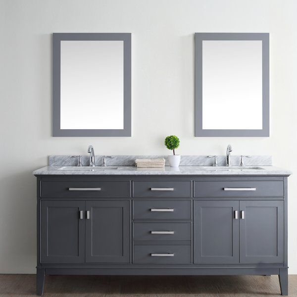You Ll Love The Arminta 72 Quot Double Bathroom Vanity Set At Wayfair Great Deals On All Home Im Double Vanity Bathroom Bathroom Vanity Bathroom Sink Vanity