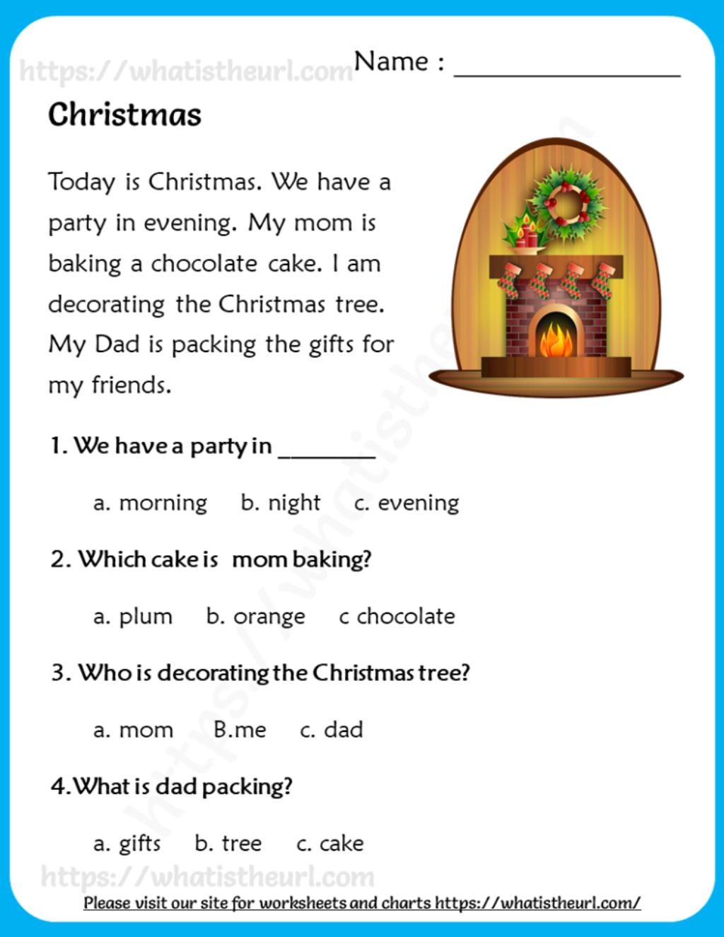 Christmas Reading Comprehension For Grade 3 Christmas Reading Comprehension Christmas Reading Reading Comprehension [ 1325 x 1024 Pixel ]