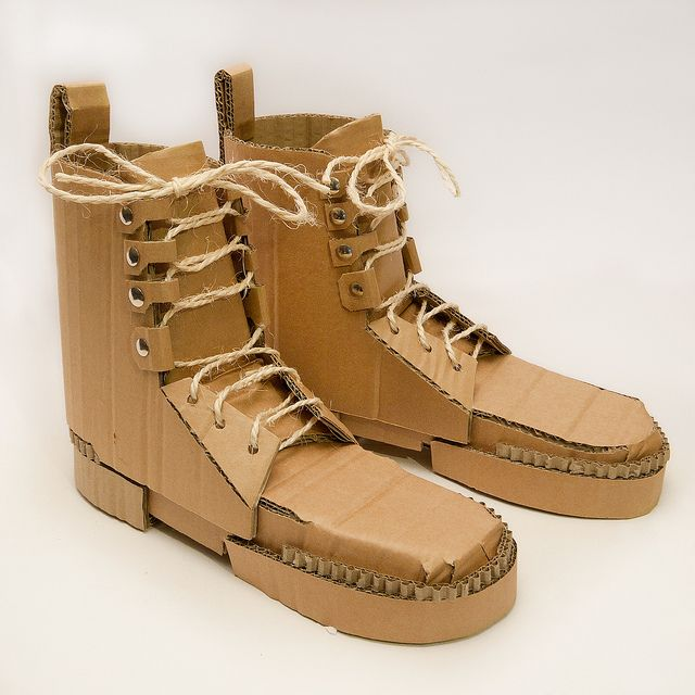 Army Boots | just because I like it    | Cardboard sculpture