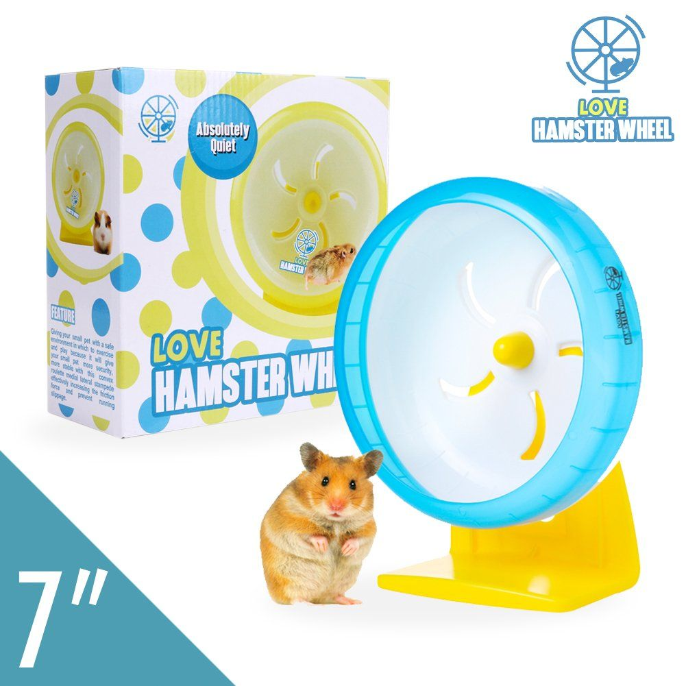 Hamster Wheel 7a Pet Noiseless Spinners Comfort Exercise Wheel Large And Easy Attach To Wire Cage For Small Pet A In 2020 Small Pets Exercise Wheel Hamster