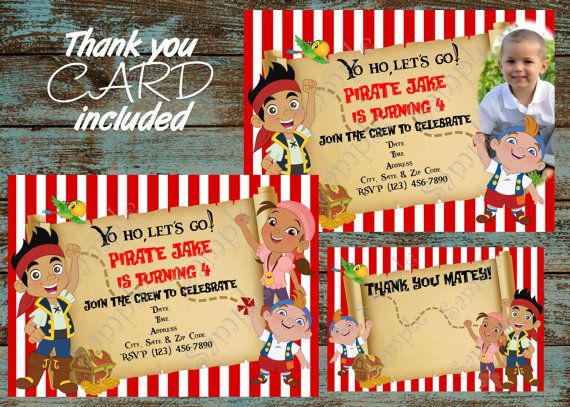 Jake and the Neverland Pirates Invitation by 954onlineinvitations