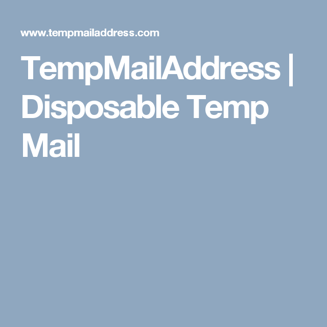TempMailAddress | Disposable Temp Mail | World Wide Web | Link, Ios