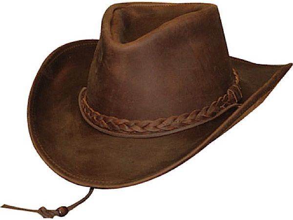 29a3dd1b6a0 Henschel Weekend Walker Leather Cowboy Hat