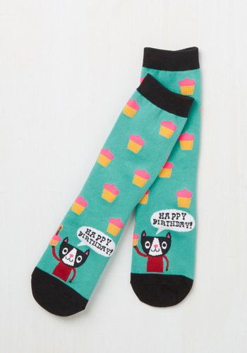 Time to Purr-ty Socks, @ModCloth