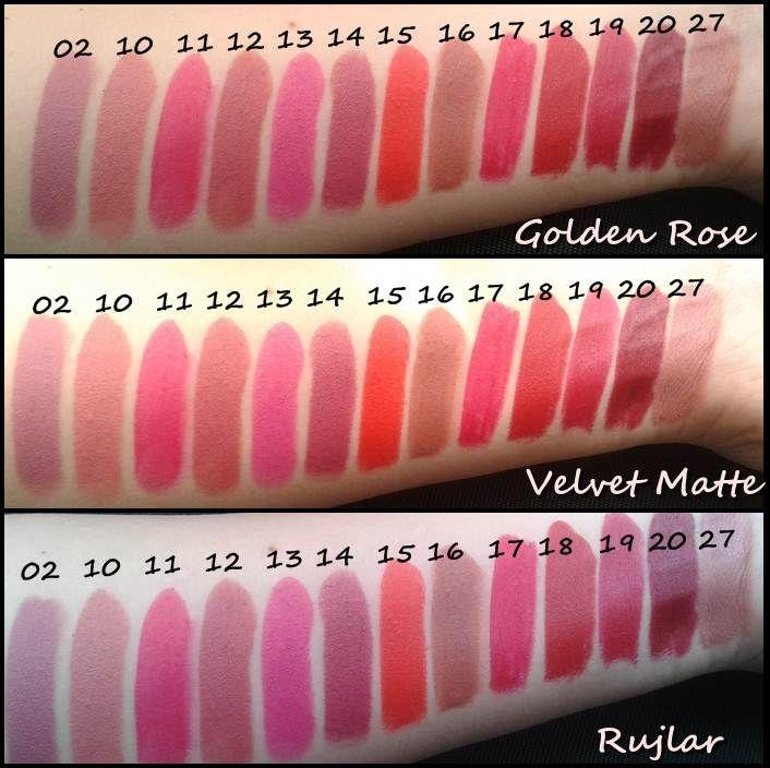 Golden Rose Velvet Matte Ruj Resimleri Süslü Sözlük Makeup