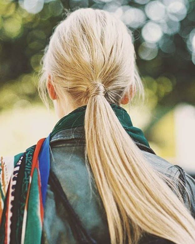 Hairstyles For Long Hair : Wrapped Ponytail | 20 Hairstyles For Work |  Quick And Easy