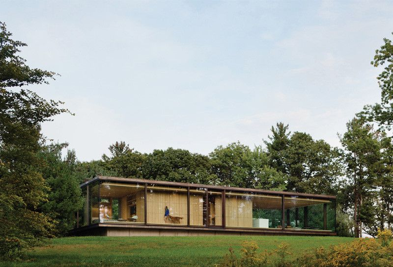 A Glass Enclosed Guest House In Upstate New York by Desai Chia