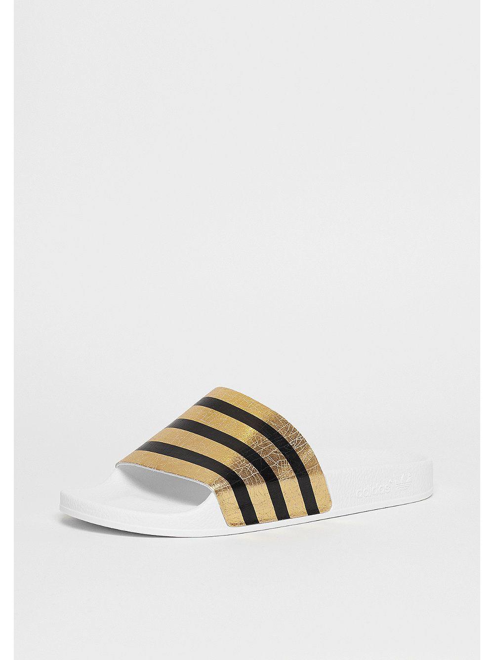 adidas Badeschlappe Adilette gold metallic