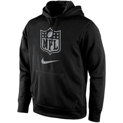 383e04984e81 Mens NFL Shield Nike Black Draft Pullover Hoodie
