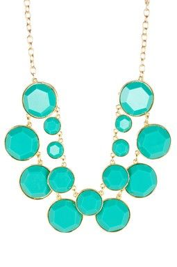 Turquoise Double Dot Necklace