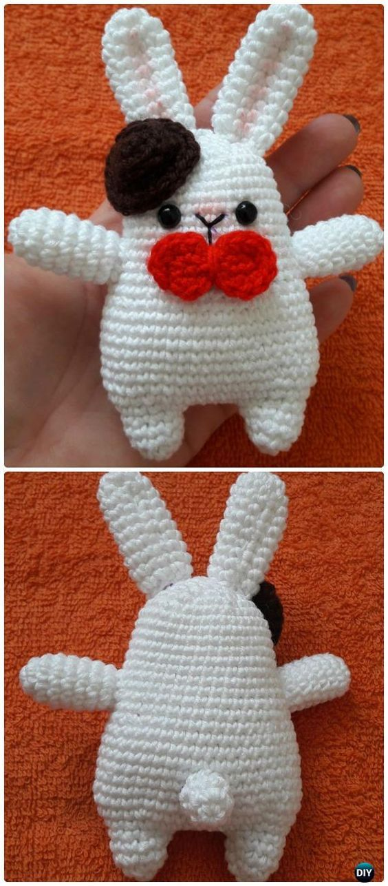 Crochet Amigurumi Gentleman Bunny Toy Free Pattern | Amigurumis ...