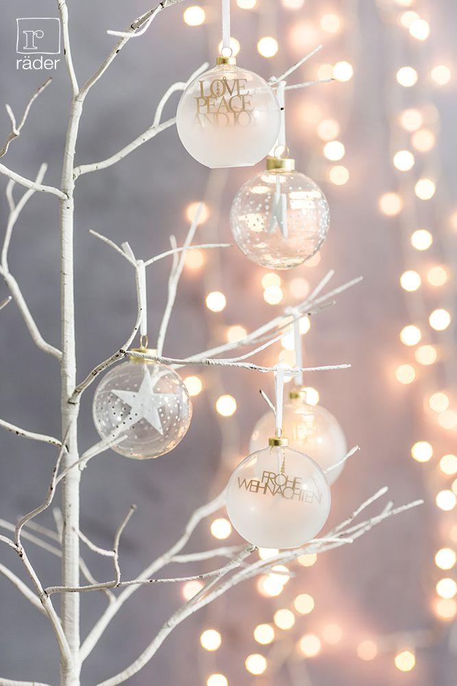 Räder Weihnachtskugeln.Gefüllte Kugel Material Glas Mit Frostung Und Druck Motiv Aus