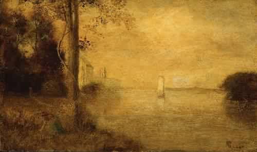 ALBERT PINKHAM RYDER 1847-1917~The Golden Hour 1870s