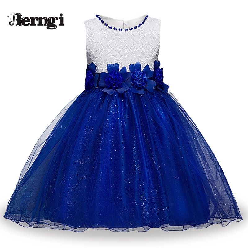 cb18ada3e0b10 Berngi Red Princess Children Fancy Dress Ball Gown Lace Wedding Dresses  Girls Kids Party Wear Clothes for 3-12 Years