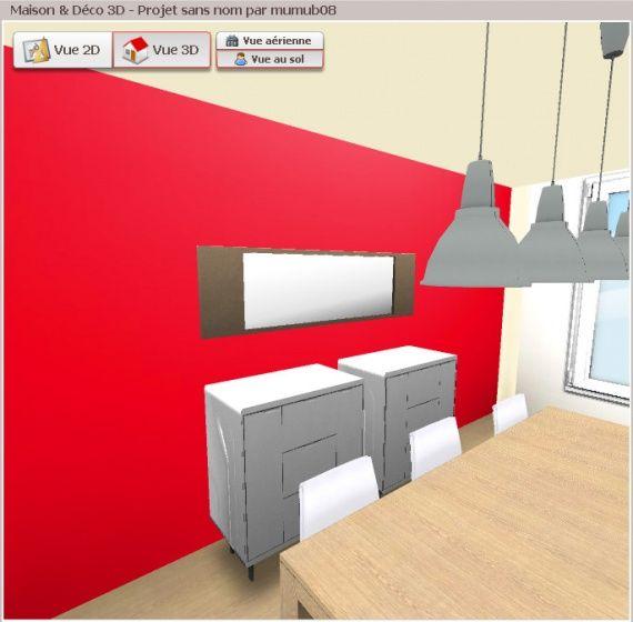 Cuisine Rouge En 3D Http://Www.Maison-Deco.Com/2D-3D | Projet