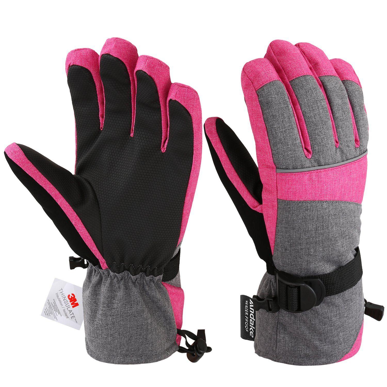 Andake Ski Gloves Women S 3m Thinsulate Warm Winter Snowboard Gloves Insulated Gloves Waterproof Windproof O Winter Gloves Women Insulated Gloves Gloves Winter