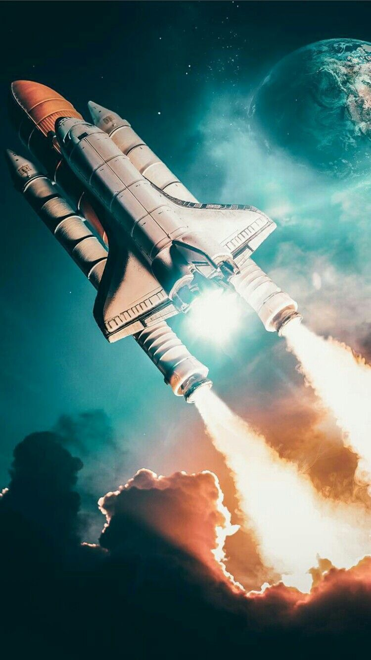 Space Shuttle Discovery Launch Iphone Wallpaper In 2019