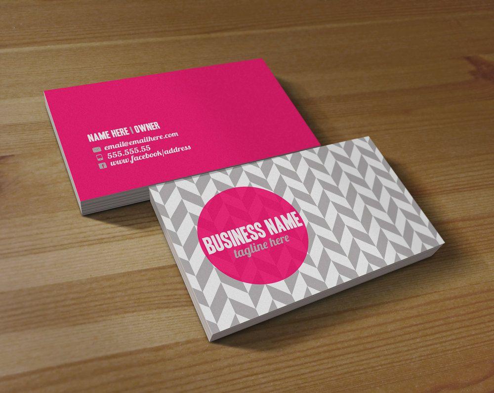 Lexia double sided business card. 13.00, via Etsy