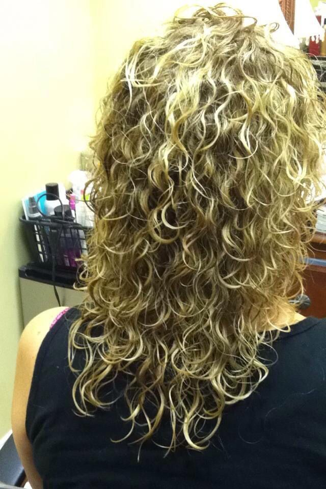 This Is A Perm Over Bleach High Lites With Olaplex