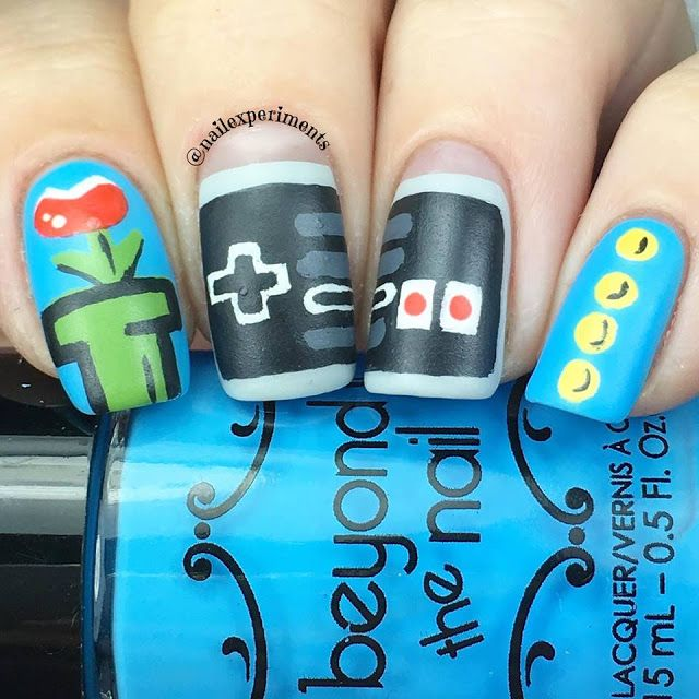 Nail Experiments Super Mario and Nintendo nail art using Beyond the ...
