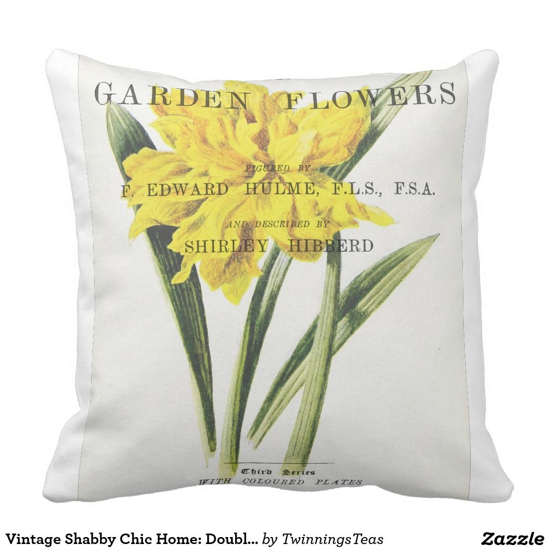 Vintage Shabby Chic Home: Double Trumpet Daffodil Pillows